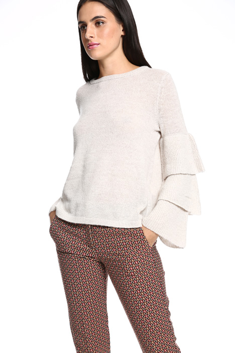 Flounce sleeves sweater Intrend