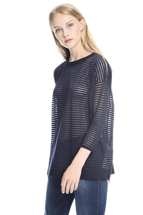 Striped semi-sheer sweater Intrend