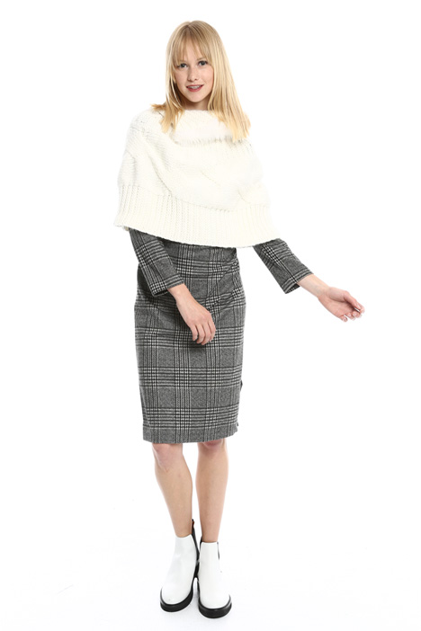 Wool cape with funnel neck Intrend