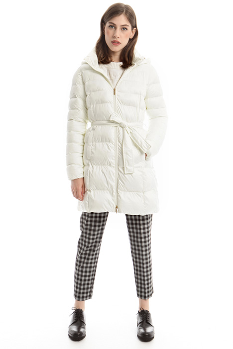 Belted padded coat Intrend