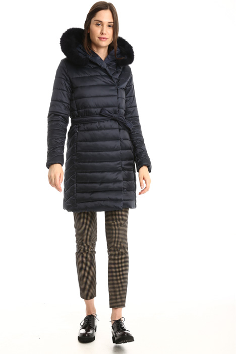 Padded coat with fur trim Intrend