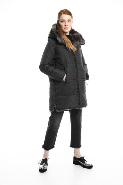 Lined coat with zip Intrend