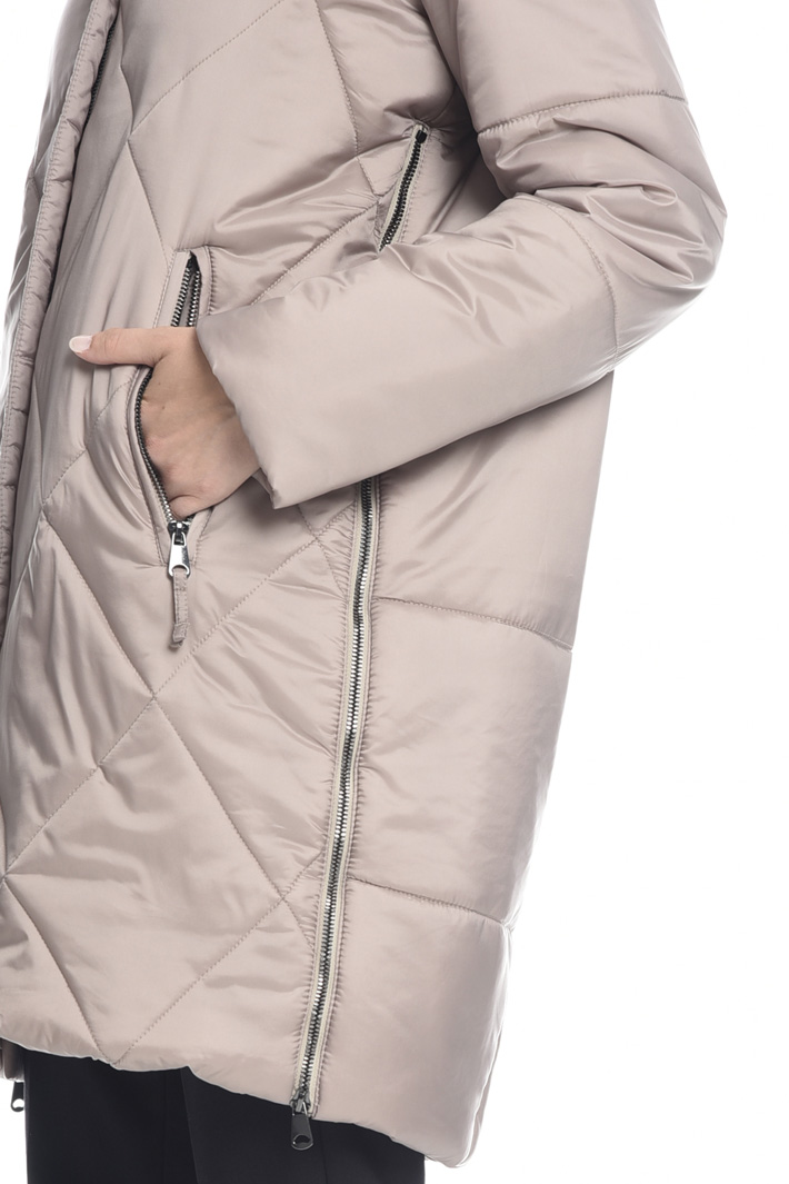 Padded coat with fur-trim Intrend