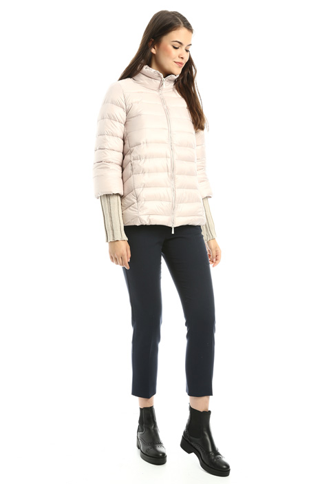 Padded coat with knit cuffs Intrend
