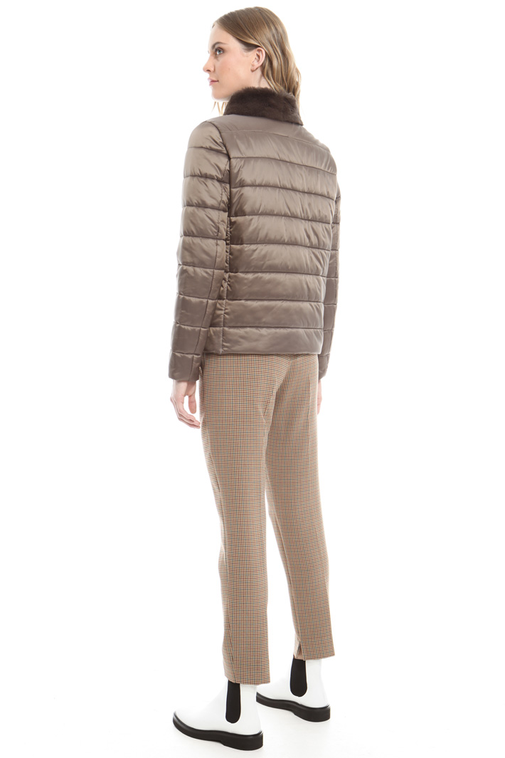 Padded jacket with fur-trim Intrend