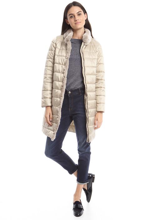 Fur-trim padded coat Intrend