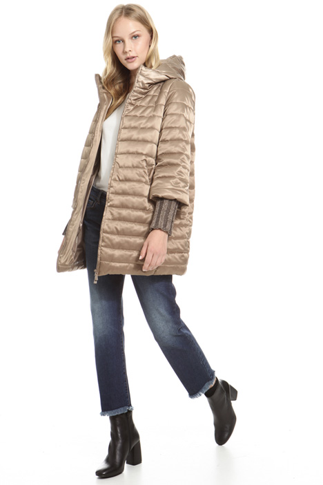 Knitted cuff padded coat Intrend