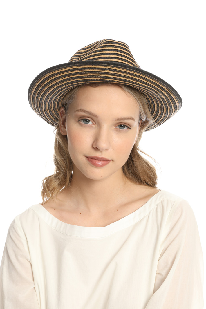 Striped fedora hat Intrend