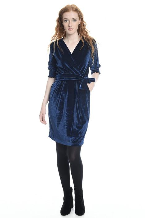 Short velvet dress Intrend