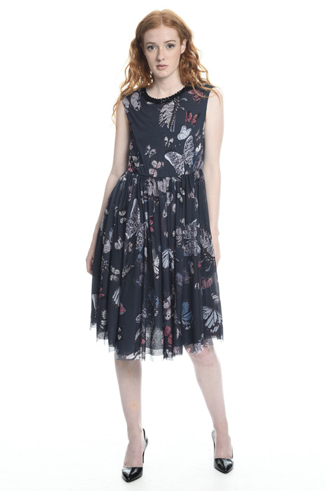 Tulle-effect jersey dress Intrend