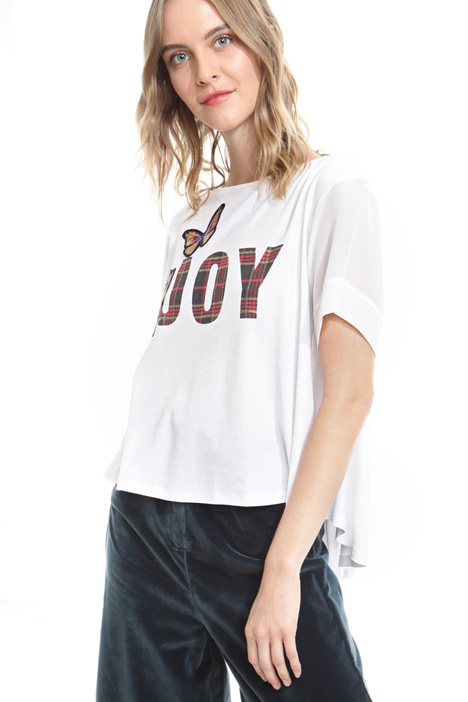 T-shirt boxy con stampa Intrend