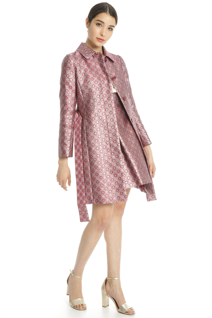 Lurex jacquard duster coat Intrend
