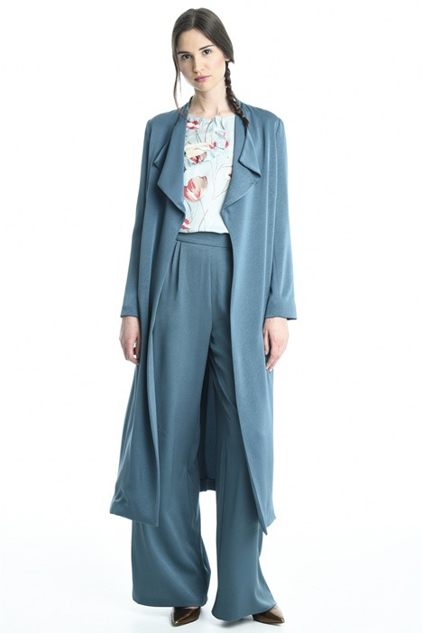 Crepe envers satin duster coat Intrend
