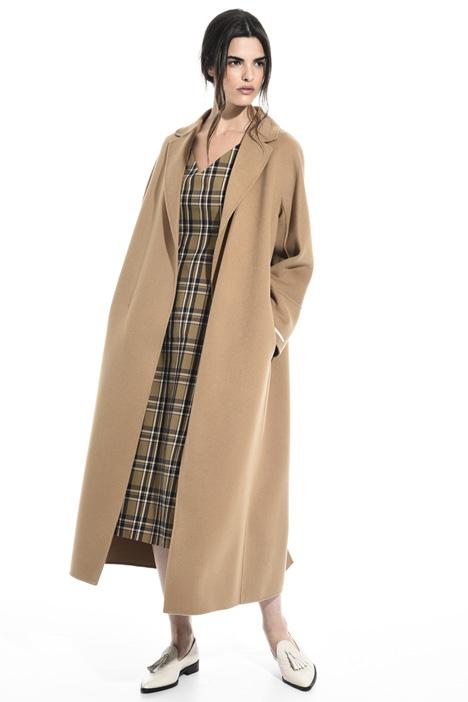 Cappotto a vestaglia in lana Intrend
