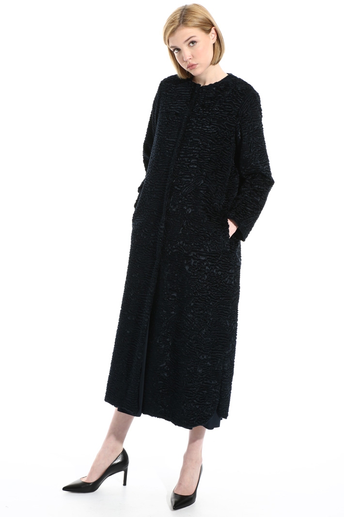 Astrakhan-effect coat Intrend