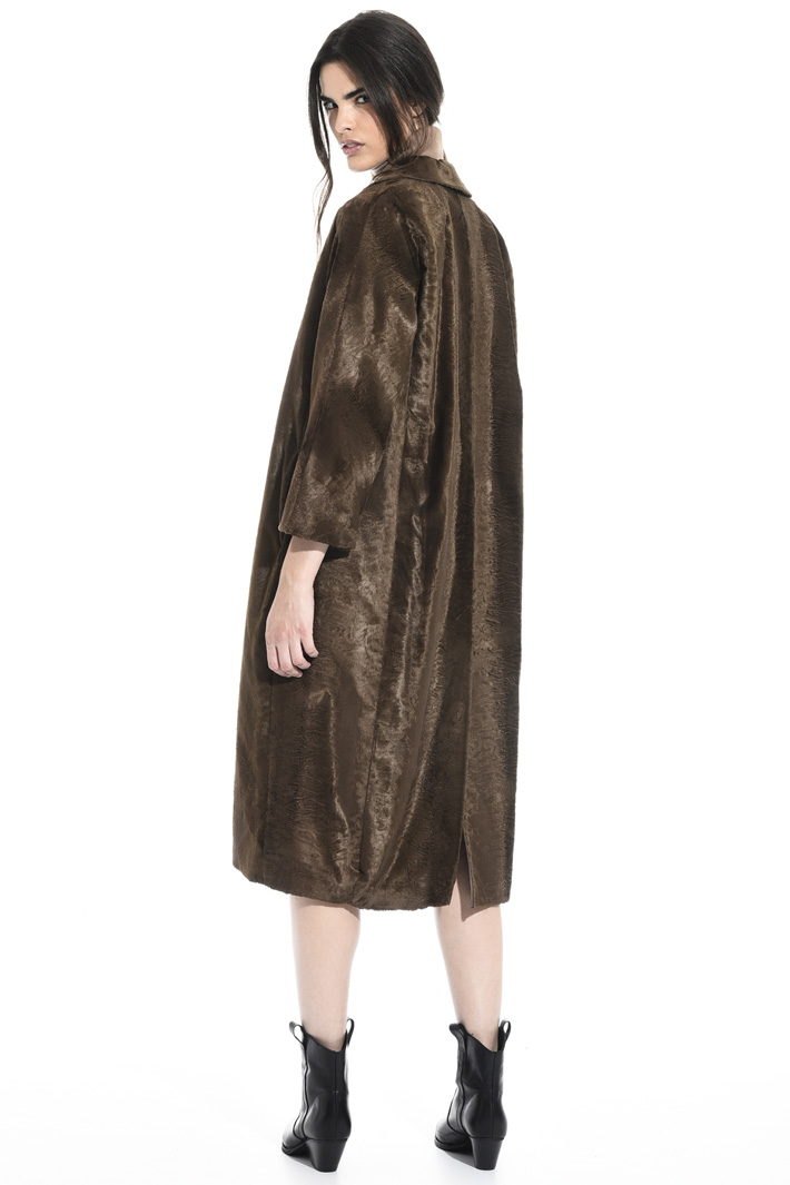 Persian lamb effect coat Intrend