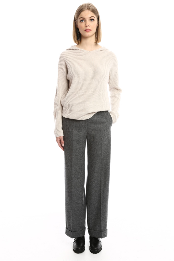 Lightweight felted trousers Intrend