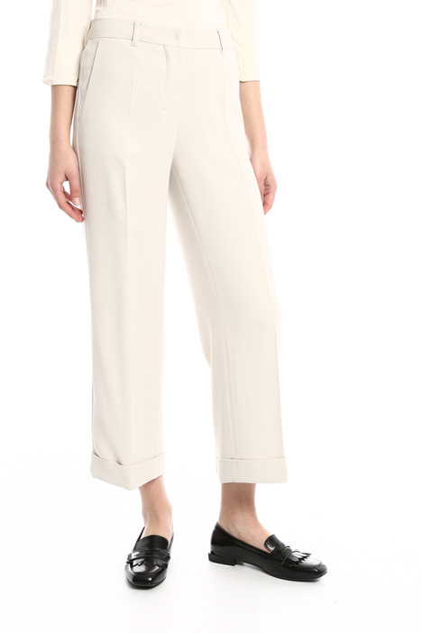 Turn-up hem trousers in cady Intrend