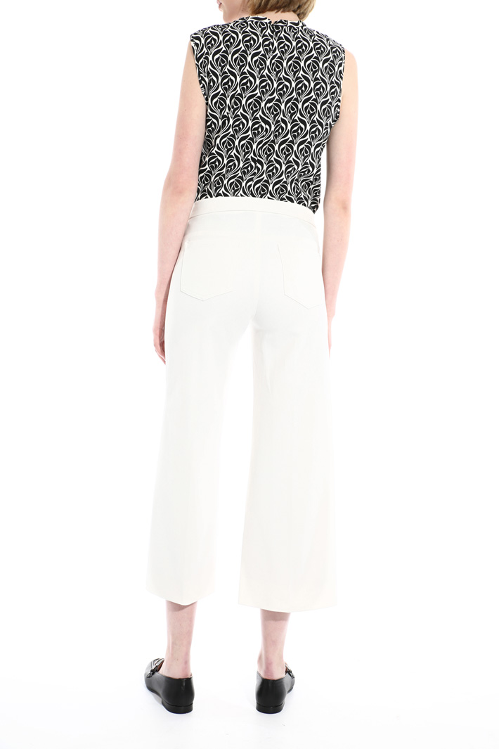 Cropped trousers in cotton Intrend