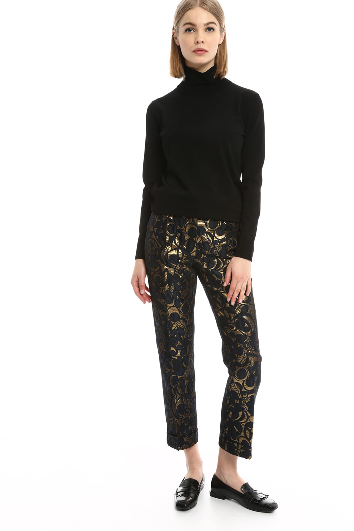 Pantaloni cropped in jacquard Intrend