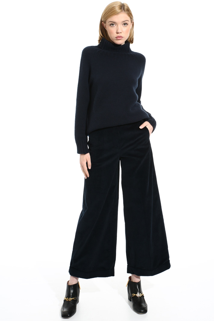 Cotton velvet trousers Intrend