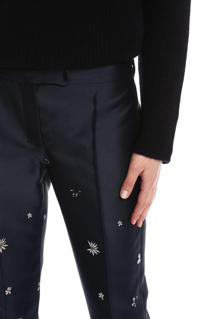 Pantaloni a sigaretta a fiori Intrend
