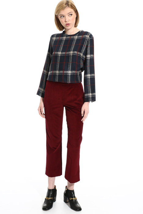 Regular fit velvet trousers Intrend