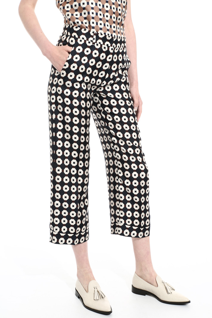 Pure silk trousers Intrend