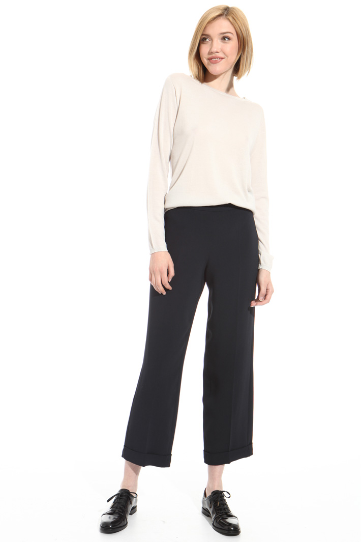 Cropped viscose trousers Intrend