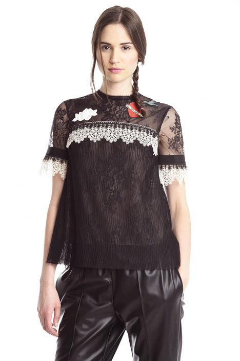 Boxy-fit lace top Intrend
