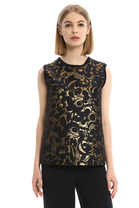 Lurex jacquard top Intrend