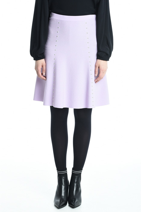 Knitted skirt with studs Intrend