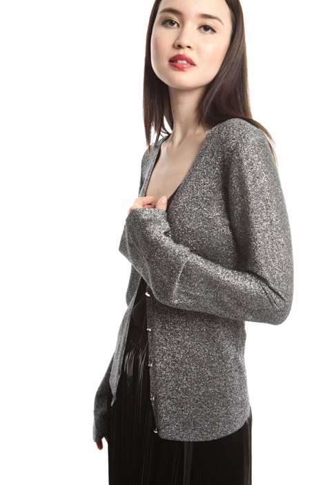 Cardigan in filato lamé Intrend