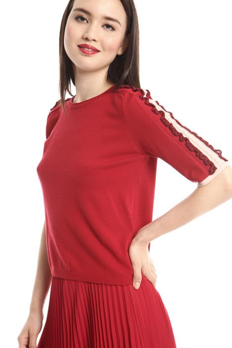 Lamé frills sweater  Intrend
