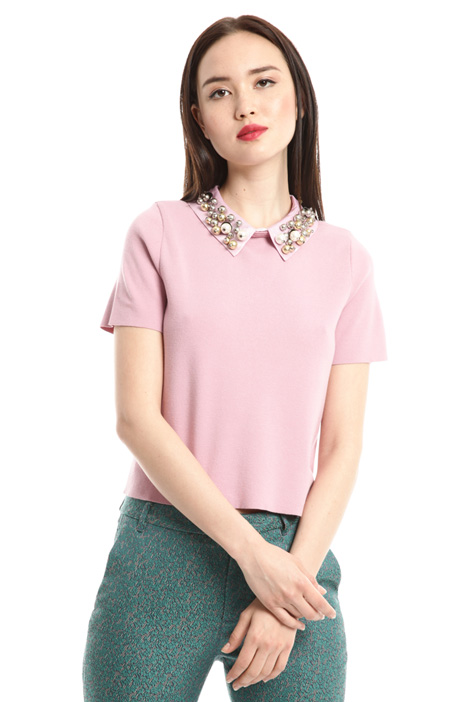 Jewel collar top Intrend