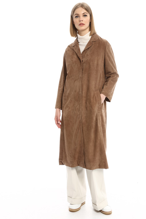 Long suede coat Intrend