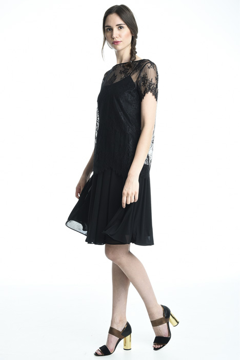 Jersey and lace dress Intrend