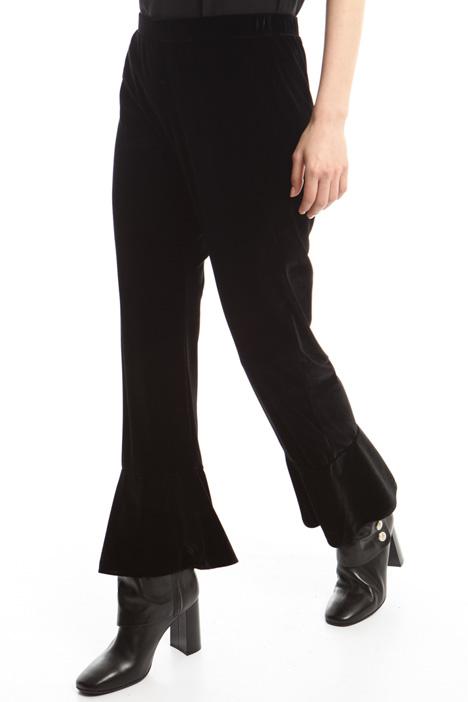 Velvet-effect trousers Intrend