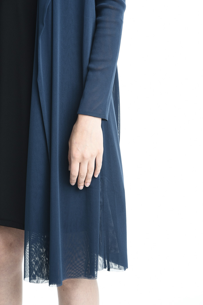 Stretch tulle duster coat Intrend