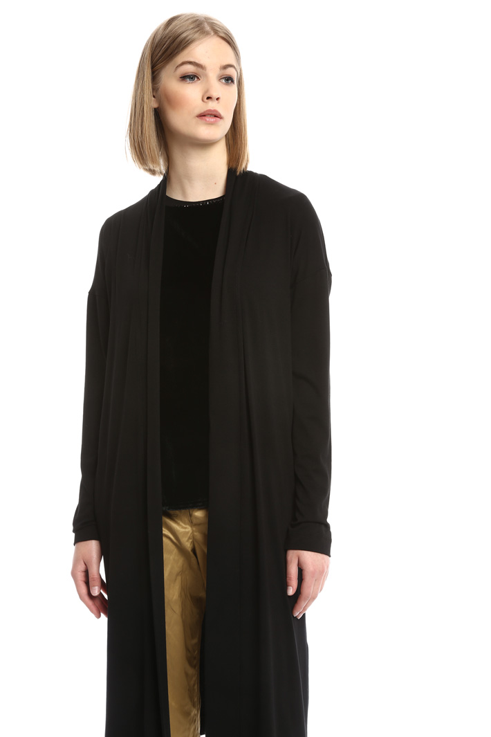 Cardigan lungo in jersey Intrend