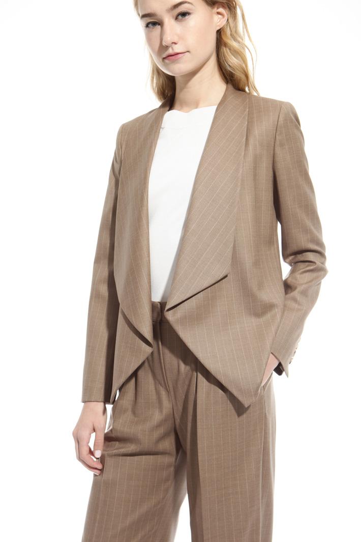 Pinstriped wool jacket Intrend