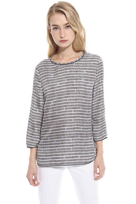 Blusa in twill stampato Intrend