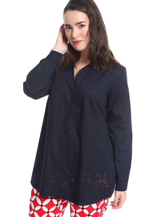 Shirt with perforated detail Intrend