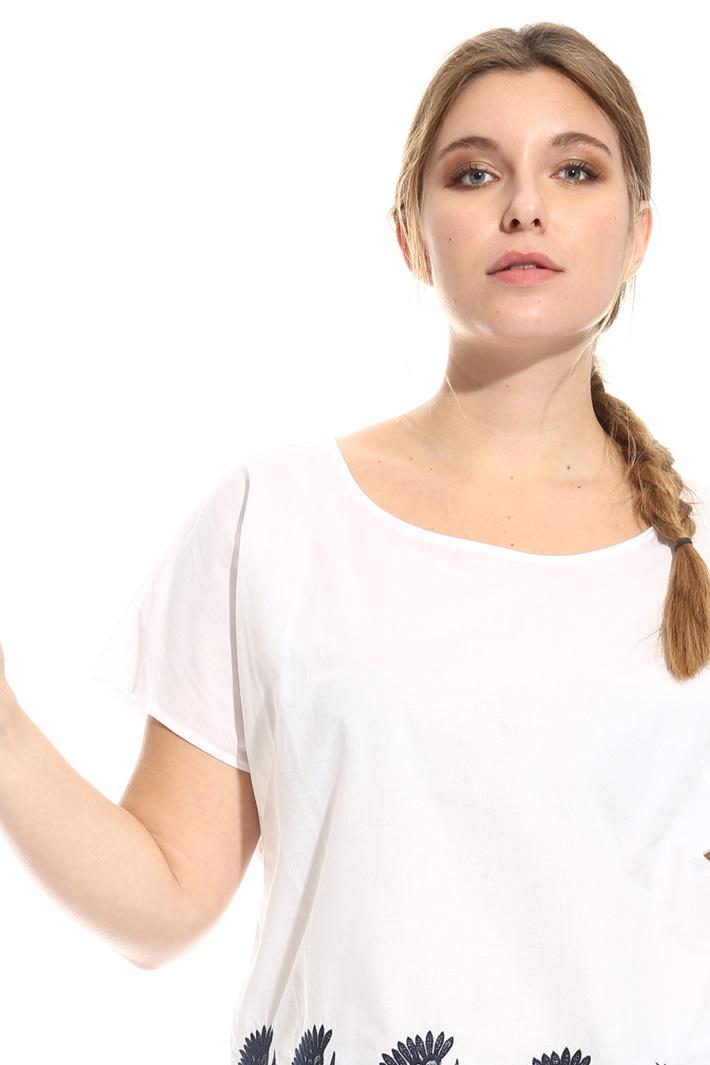 Blusa in cotone ricamato Intrend