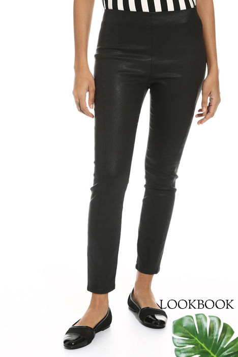 Coated jersey leggings Intrend