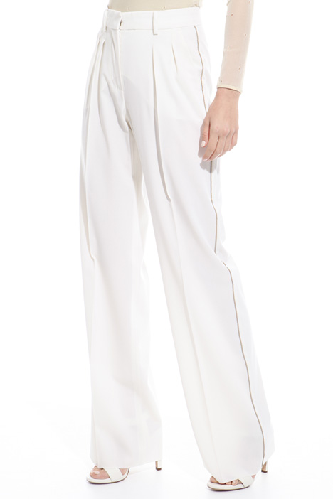 Pantalone dritto in lana Intrend