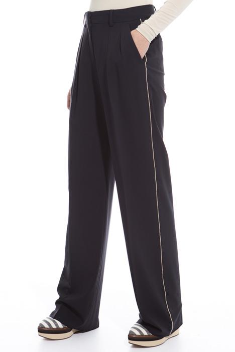 Pantalone dritto in lana Intrend