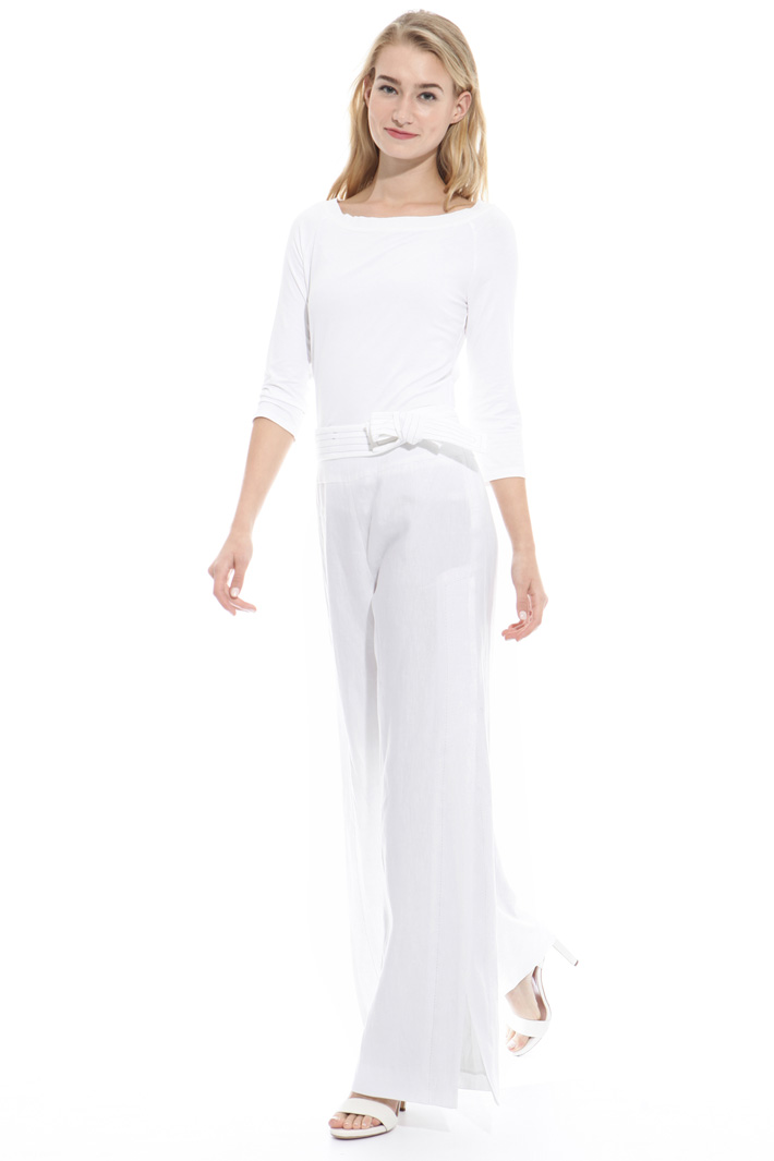 Wide trousers with slits Intrend