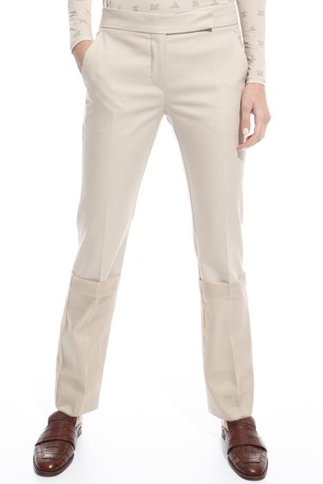 Pantalone con maxi risvolti Intrend