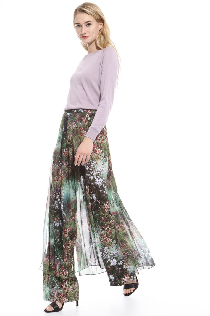 Pure silk palazzo trousers Intrend